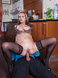 Candy Alexa Has a Cocktail and Cock in Her Tail