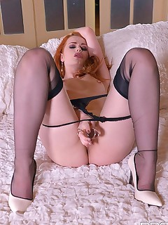 Red Haired Sexpot's Solo Sizzler - Masturbation's on her Mind free photos and videos on DDFNetwork.com
