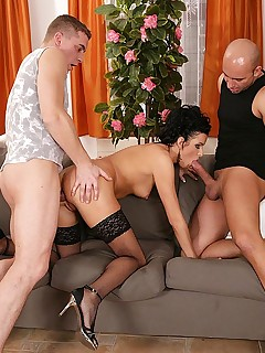 Filled with meat in every orifice! free photos and videos on DDFNetwork.com