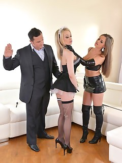 Russian Busty Domina's Private Giant Strap-on Fuck Trio, Part 1 free photos and videos on DDFNetwork.com