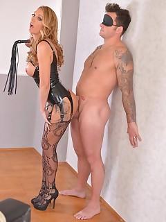 British Dominatrix Uses Stud for Pussy Pleasure Program free photos and videos on DDFNetwork.com