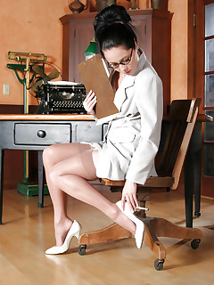 Beautiful softcore secretary