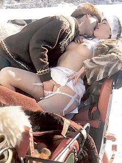 Retro porn ~ Hot seventies sex in the cold snow!