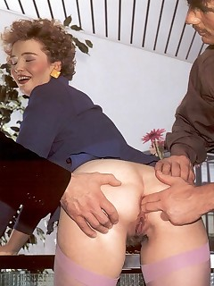 Rodox hairy retro lady getting fucked in her hairy ass