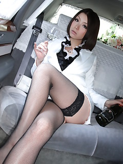 Sexy Japanese darling in stockings Tsubaki | Japan HDV