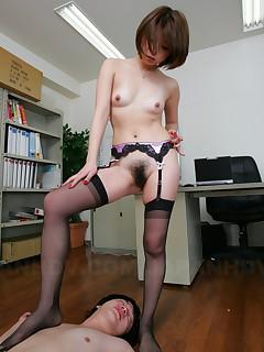 Freaky office slut Tsubaki gets fucked hard | Japan HDV