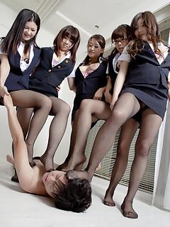 Hot gal Amu Umino and her very sexy girls  | Japan HDV
