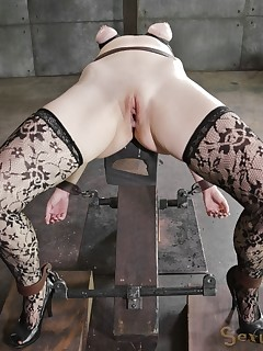 Sexually Broken | Inescapable Bondage, Brutal Bondage Sex, Devastating Orgasms | Ella Nova Gets Fucked From Both Ends